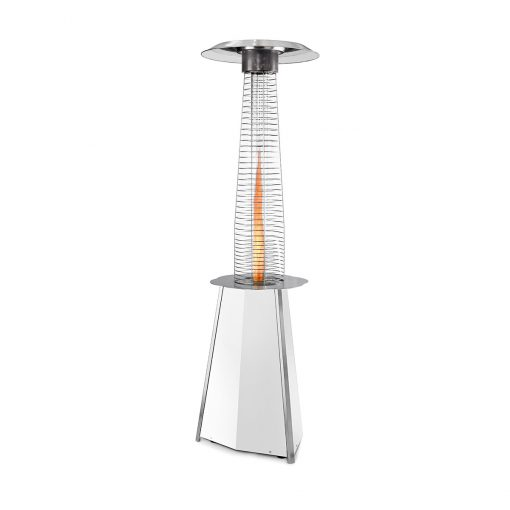Parasol chauffant gaz Solflame Blanc Outdoor-Heating