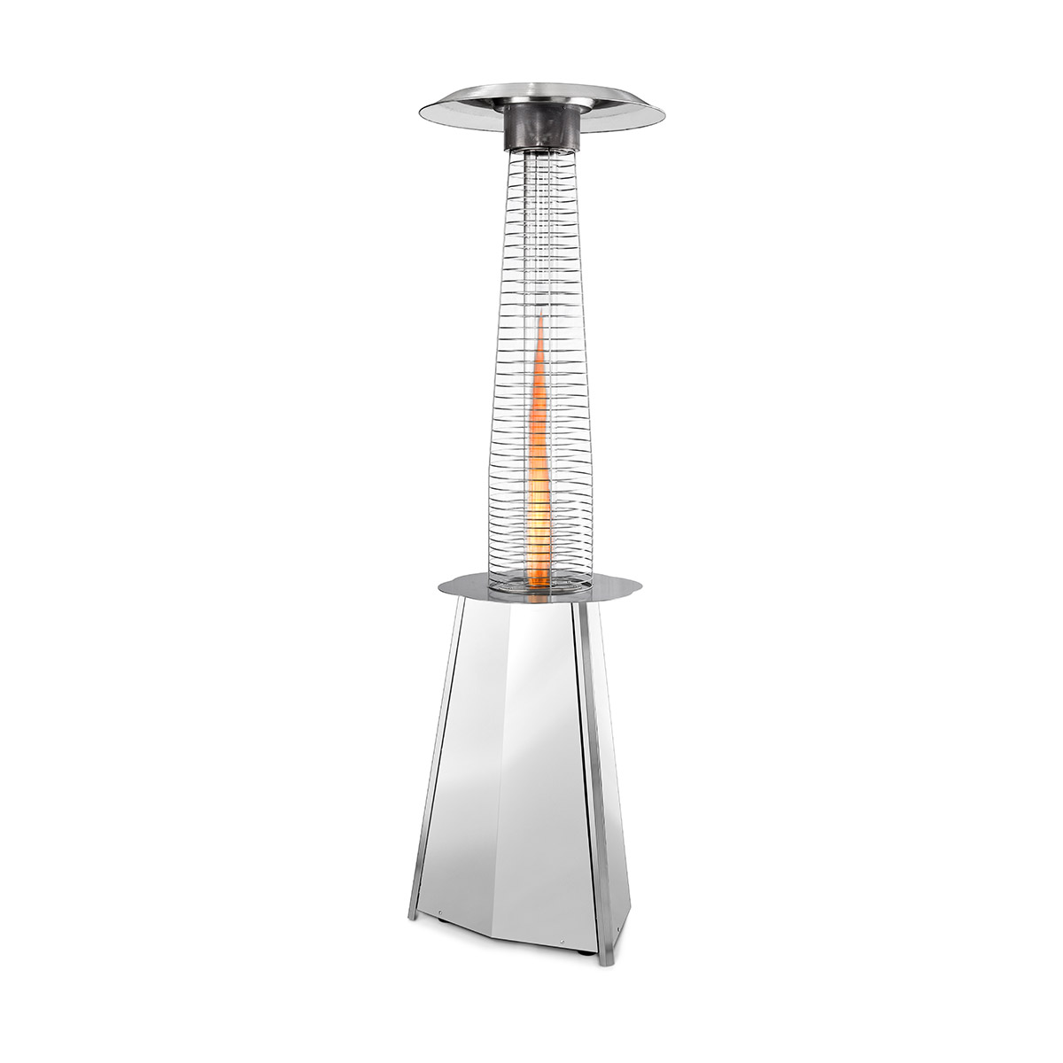 Parasol chauffant gaz - Solflame Inox - Outdoor Heating