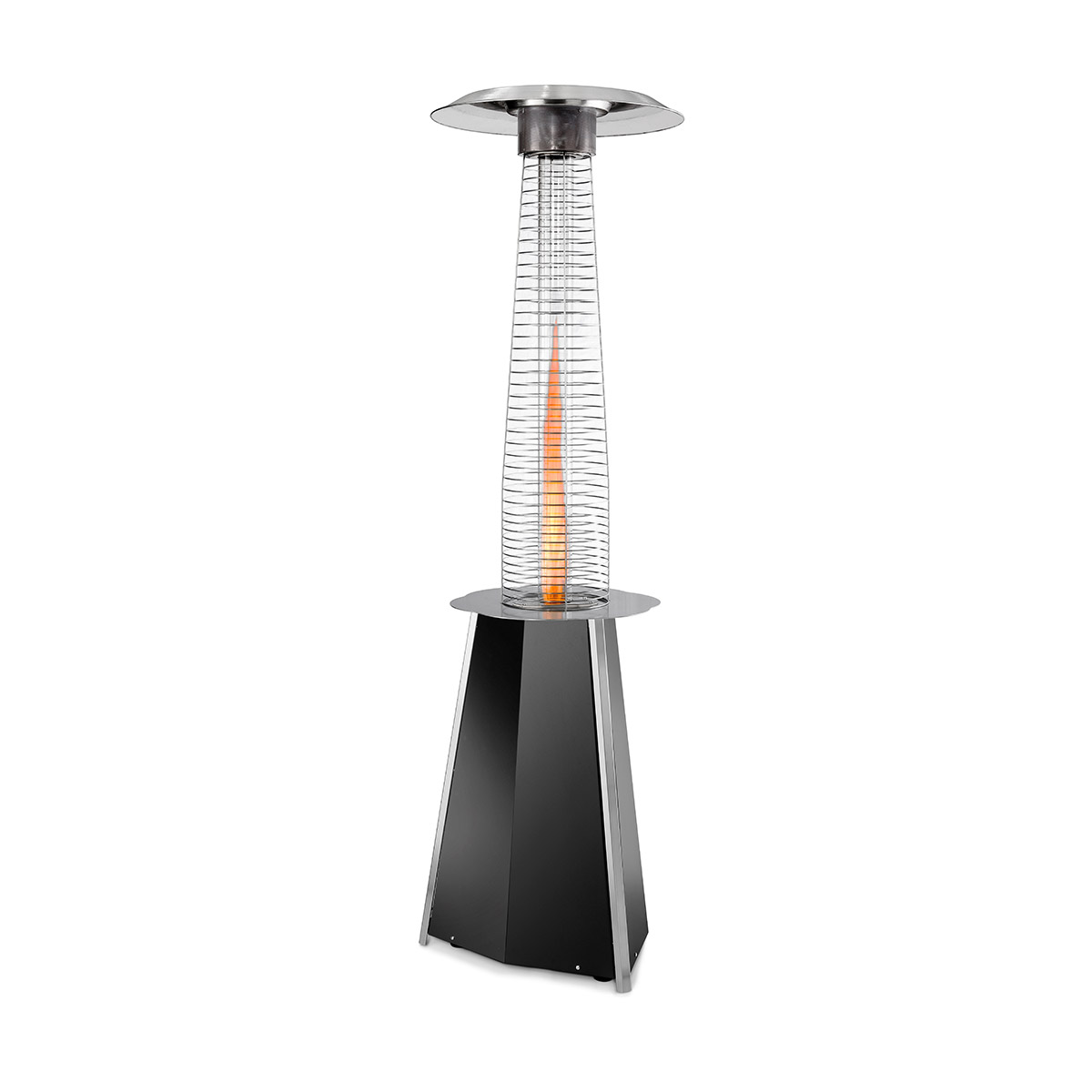 Parasol chauffant - Solflame noir - Outdoor Heating